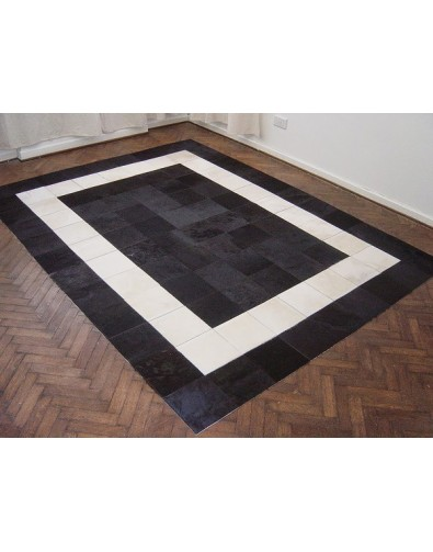 Patchwork Cowhide Rugs, White Black Patchwork Cowhide Rug 508 , faux-fur-throws