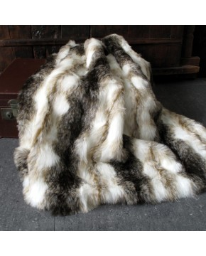 Faux Fur Throws, Italian Wolf Faux Fur Throw , faux-fur-throws