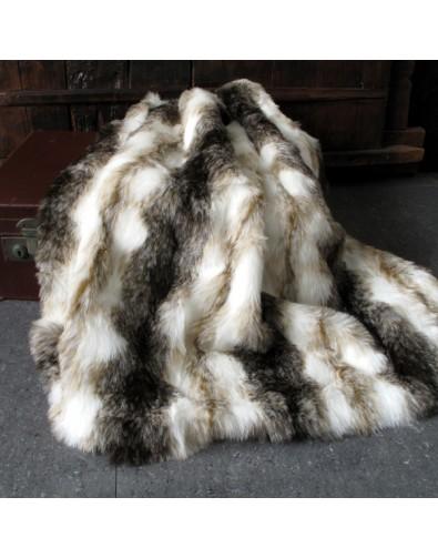 Faux Fur Throws, Italian Wolf Faux Fur Throw , faux-fur-throws