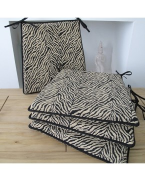 Seat Pads & Cushions, Zebra Square Tapered Seat Pads , faux-fur-throws