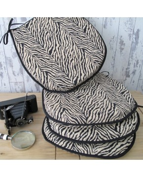 Seat Pads & Cushions, Zebra Classic D Rounded Seat Pads , faux-fur-throws