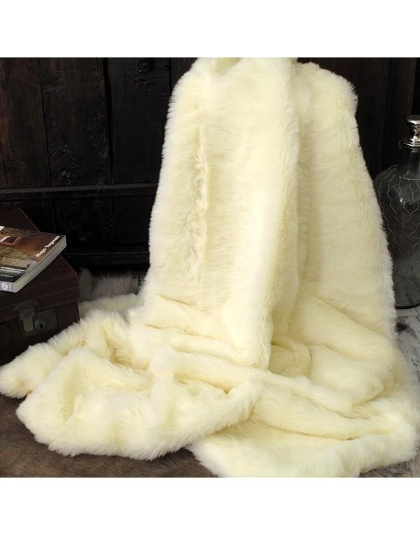 Faux Fur Throws, Cream Polar Bear Faux Fur Throw , faux-fur-throws