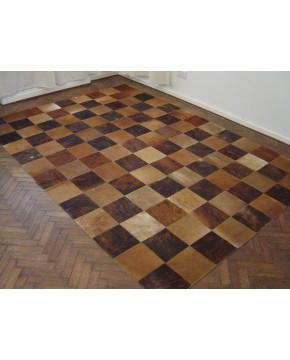 Brown Patchwork Cowhide Rug 412