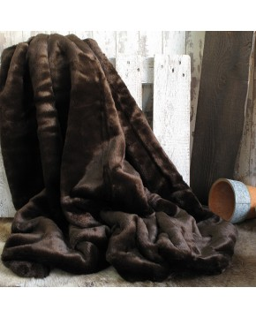 Bison Faux Fur Throw