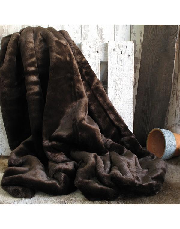 Faux Fur Throws, Bison Faux Fur Throw , faux-fur-throws