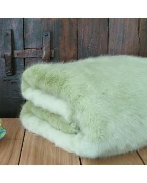 Faux Fur Throw Spring Willow
