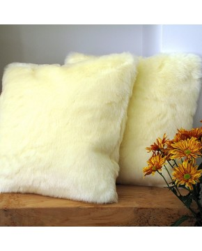 Faux Fur Cushions, Cream Polar Bear Faux Fur Cushion , faux-fur-throws
