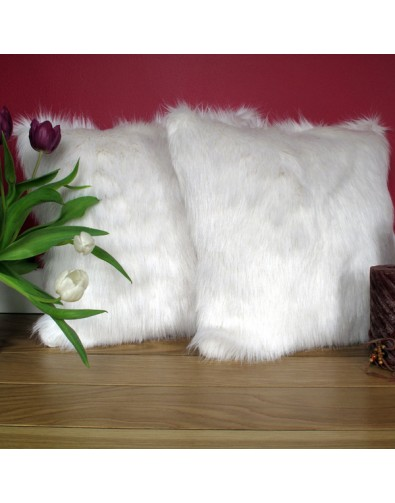 Faux Fur Cushions, Deluxe Polar Faux Fur Cushion , faux-fur-throws