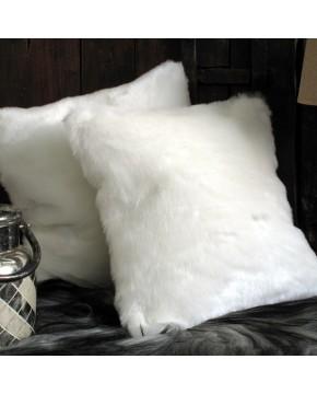 Faux Fur Cushions, White Polar Bear Faux Fur Cushion , faux-fur-throws