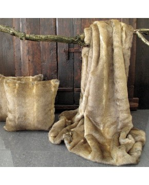 Caracal Faux Fur Throw