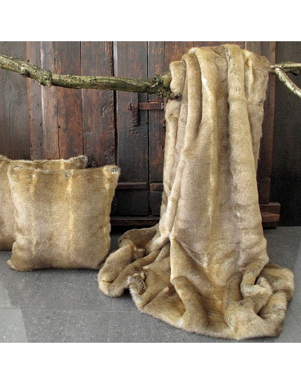 Caracal Faux Fur Throw