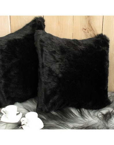 Faux Fur Cushions, Black Panther Faux Fur Cushion , faux-fur-throws