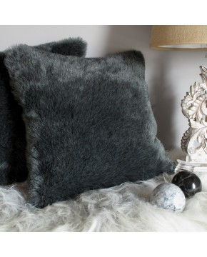 Faux Fur Cushions, Badger Faux Fur Cushion , faux-fur-throws