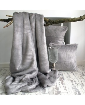 Faux Fur Throw Dove Grey