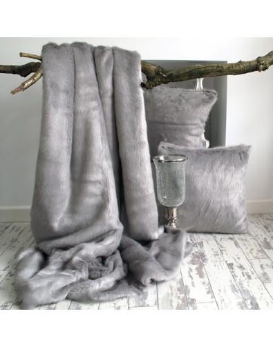 Faux Fur Throw Dove Grey