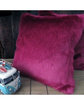 Milano Magenta Faux Fur Cushion