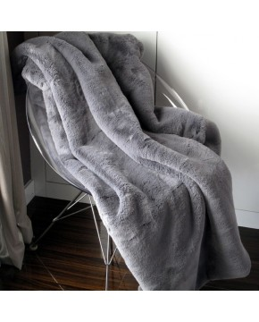Richmond Slate Faux Fur Throw