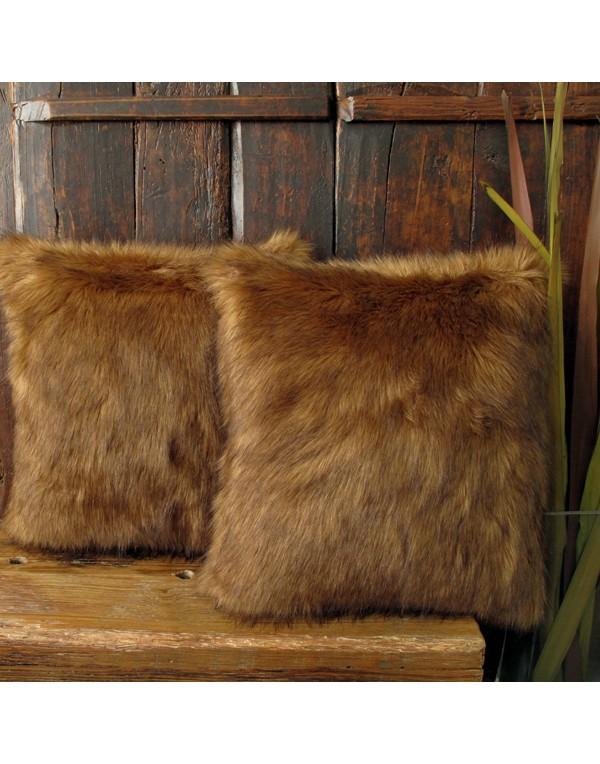 Red Panda Faux Fur Cushion