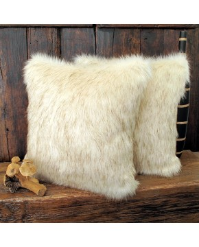 Saharan Fox Faux Fur Cushion