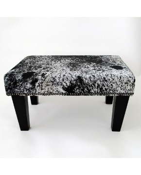 Small Black Speckled Cowhide Footstool 207
