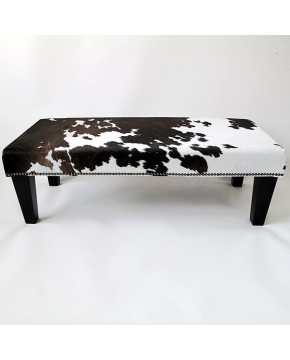 Extra Large Dark Brown White Footstool 215