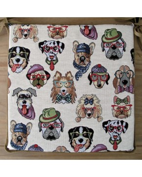 Tapestry Dogs Square Seat Pads