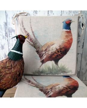 Pheasant Reversible Square Seat Pads