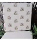Small Rabbits reversible square seat pads