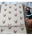 Small Pheasants Reversible Square Seat Pads
