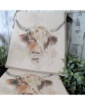 Highland Cow reversible tapered seat pads