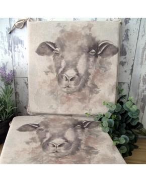 Sheep reversible square seat pads