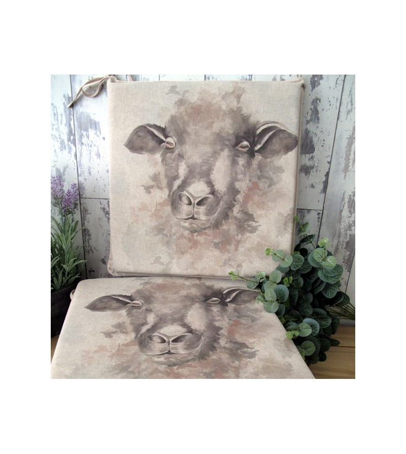Sheep reversible square seat pads
