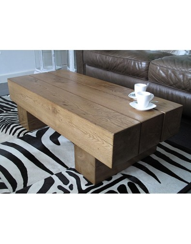 Oak Coffee Tables, 3 Beam Solid Medium Oak Coffee Table , faux-fur-throws
