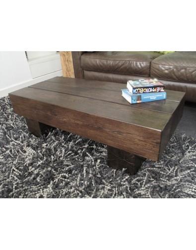 Oak Coffee Tables, Dark Oak Coffee Table 3 Beam , faux-fur-throws