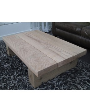 Light 3 Board Solid Oak Coffee Table