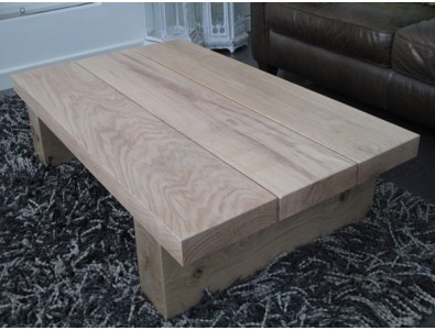 Oak Coffee Tables, Light 3 Board Solid Oak Coffee Table , faux-fur-throws
