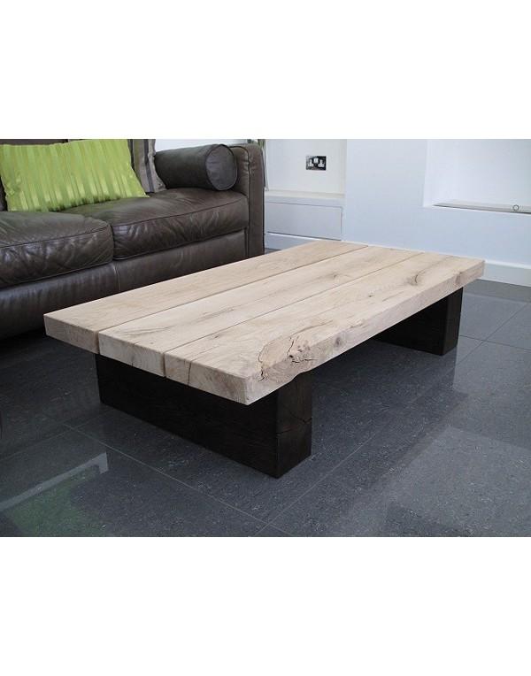 Oak Coffee Tables, Two Tone 3 Board Solid Oak Coffee Table , faux-fur-throws