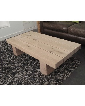 Oak Coffee Tables, Slim 4 Beam Solid Light Oak Coffee Table , faux-fur-throws