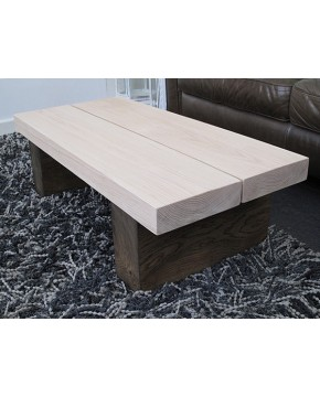 Two-Tone 2 Board Solid Oak Coffee Table