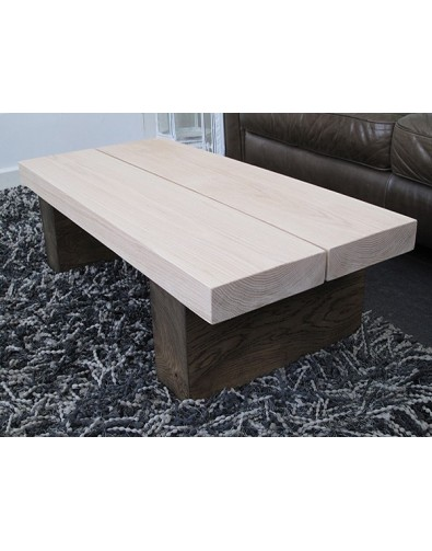 Oak Coffee Tables, Two-Tone 2 Board Solid Oak Coffee Table , faux-fur-throws