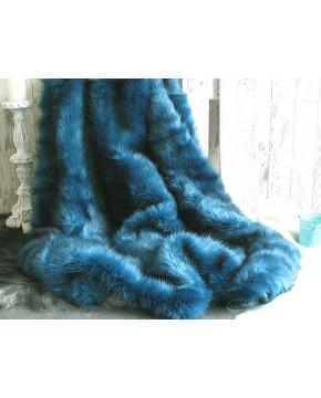 Baby Blue Faux Fur Throw Blue Fur Blanket Pale Blue