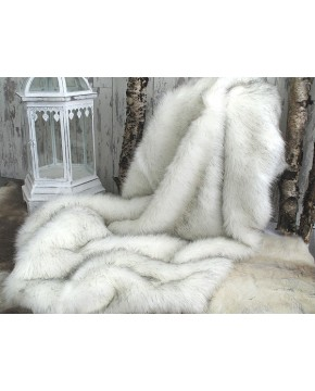 Arctic Fox Faux Fur Throw