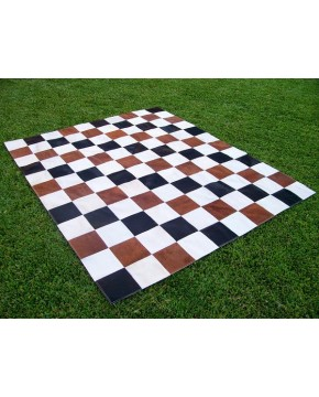Black White Brown Patchwork Cowhide 445