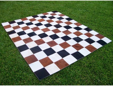 Patchwork Cowhide Rugs, Black White Brown Patchwork Cowhide 445 , faux-fur-throws