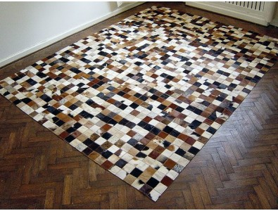 Patchwork Cowhide Rugs, Small Squares Patchwork Cowhide Rug 515 , faux-fur-throws
