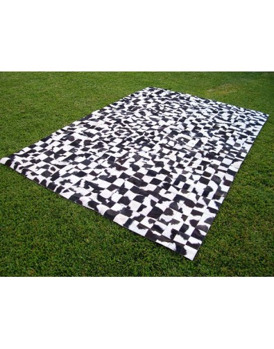 Patchwork Cowhide Rugs, Small Squares Patchwork Cowhide Rug 517 , faux-fur-throws