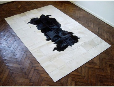 Patchwork Cowhide Rugs, Black White Patchwork Cowhide Rug 511 , faux-fur-throws