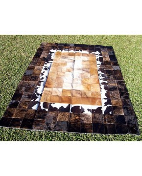 Mixed Colours Patchwork Cowhide Rug 521
