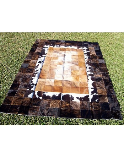 Patchwork Cowhide Rugs, Mixed Colours Patchwork Cowhide Rug 521 , faux-fur-throws