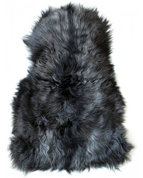 Dark Grey Icelandic Sheepskin Rug 0121